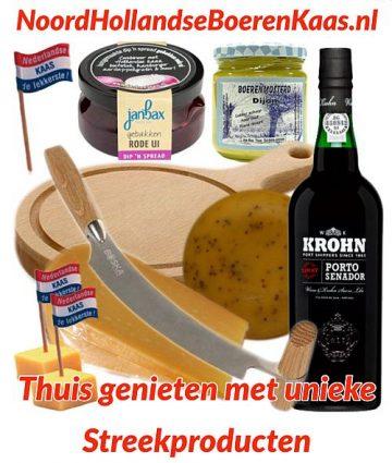 Bestel een kaaspakket gevuld streekproducten - www.Vleeskopenbijdeboer.nl