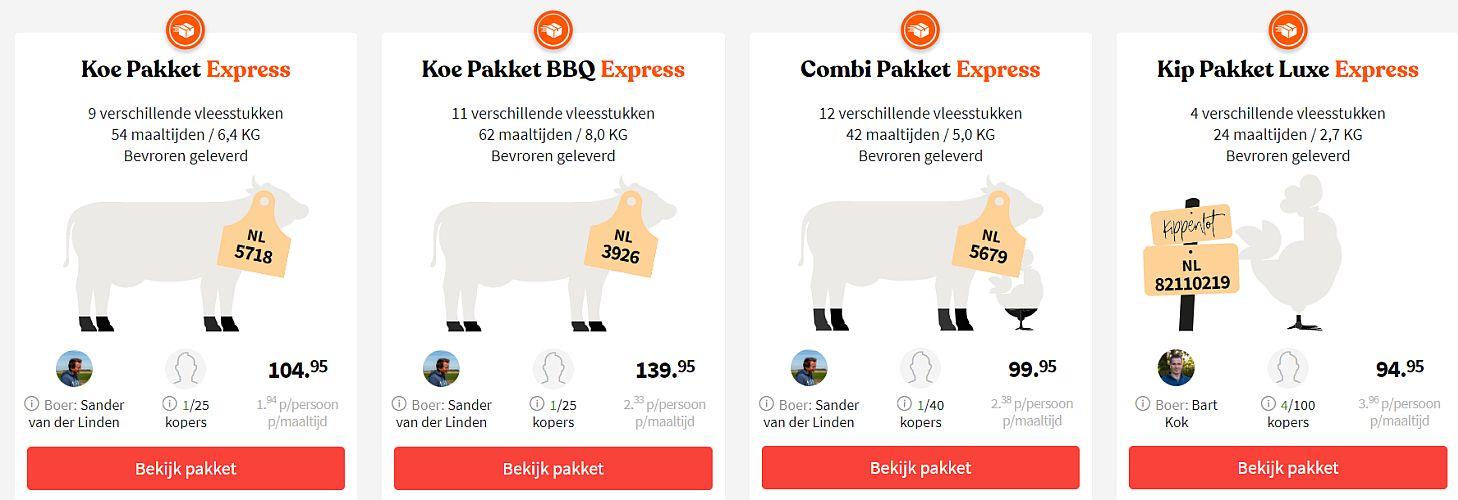 vleespakketten van grutto - www.Vleeskopenbijdeboer.nl